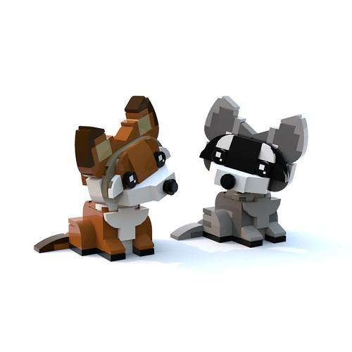 Fox & Raccoon BrickPals