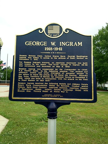 Anniston, Alabama - George W. Ingram Historical Marker