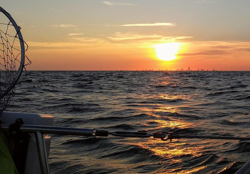 Sunset behind Atlantic City