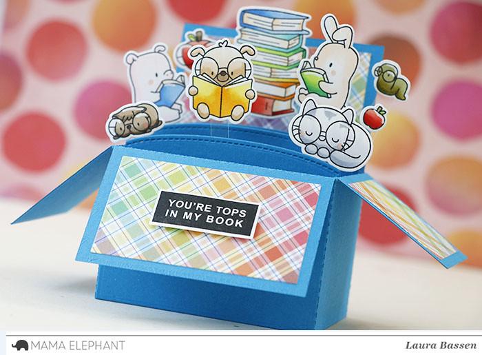 Mama Elephant-Book Worm & 3D Pop Up Card