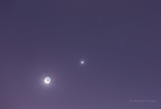 Moon Venus and the Butterfly Cluster (M44) v2