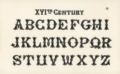 16th-century calligraphy fonts from Draughtsman's Alphabets by Hermann Esser (1845–1908). Digitally enhanced from our own 5th edition of the publication.