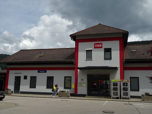 Friesach, Carinthia, state of Austria (the art of railway stations of Kärnten), Bahnhofstraße (Bahnhof Friesach)