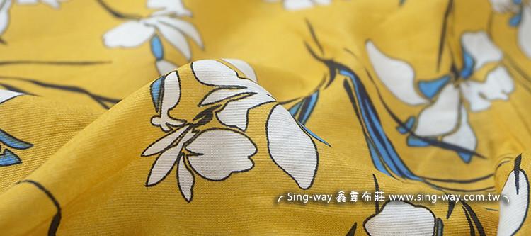 姜花 蝴蝶花 小清新风 大地风 大自然 洋装 连身裙 长裙 夏季服装布料