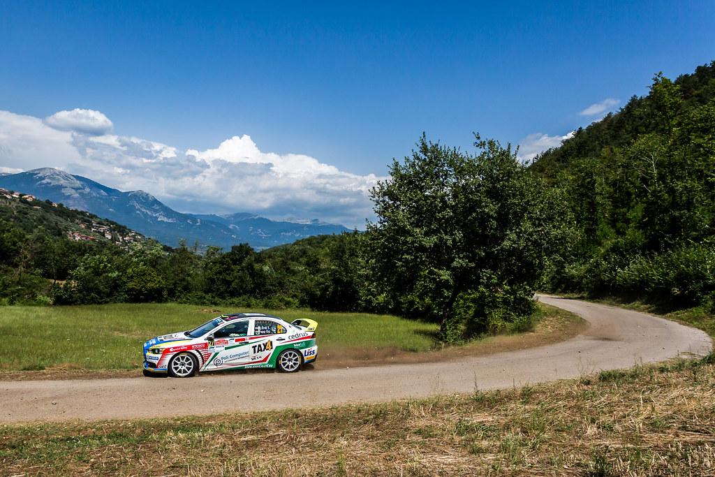 27 ERDI Tibor (hun), PAPP Gyorgy (hun), Mitsubishi lancer evo X, action during the 2018 European Rally Championship ERC Rally di Roma Capitale,  from july 20 to 22 , at Fiuggi, Italia - Photo Thomas Fenetre / DPPI