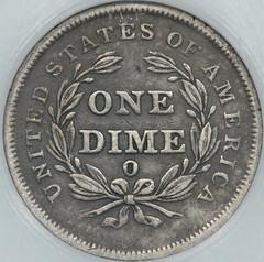 1839-0 Dime reverse cirulation cameo