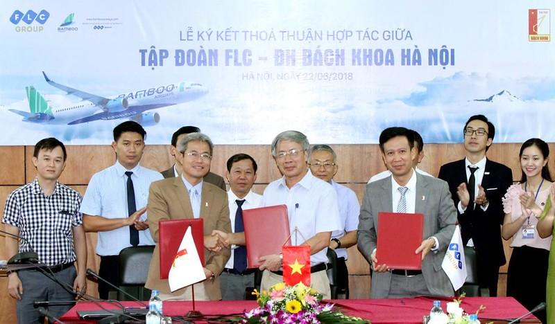 Lễ ký kết hợp tác nguồn nhân lực giữa tập đoàn FLC và ĐH Bách Khoa HN