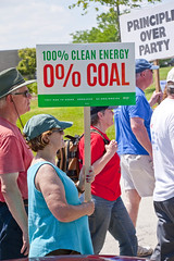 Protesting the Soon to be Built Foxconn Electronics Plant Mt. Pleasant Wisconsin 6-28-18  2086