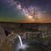 "Milky Way over Palouse Falls by IronRodArt - Royce Bair (""Star Shooter"")"