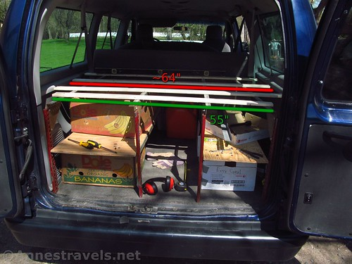 DIY Shelves for the Back of a Ford E150 Van - Anne's Travels