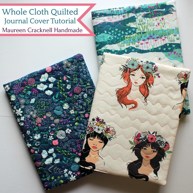 Whole Cloth Quilted Journal Covers