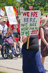 Protesting the Soon to be Built Foxconn Electronics Plant Mt. Pleasant Wisconsin 6-28-18  2079