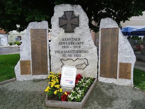 Sankt Veit an der Glan, Carinthia, state of Austria (the art of very historic places at the center of St. Veit), Oktoberplatz (Kärntner Abwehrkampf und Volksabstimmung)