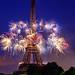 Paris Eiffel tower fireworks by photoserge.com