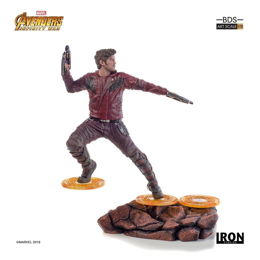 都你在雷啦~XD Iron Studios Battle Diorama 系列《復仇者聯盟3:無限之戰》星爵 Star-Lord 1/10 比例決鬥場景雕像作品