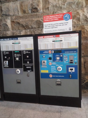 WMATA metrorail fare card machines