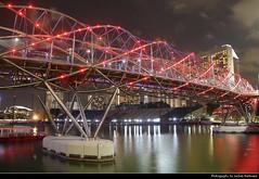 Helix Bridge at Night, Singapore