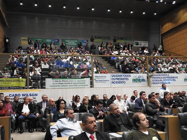 Pré-convenção do Patriota 51 SP, lota salão nobre da Alesp