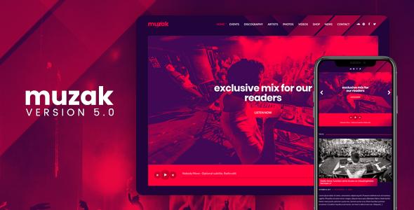 Muzak v5.3.1 – Music Premium WordPress theme