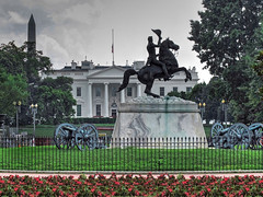 Unknown Gereral Doffing His Hat to the White House-Laffayette Square-Washington DC 8990