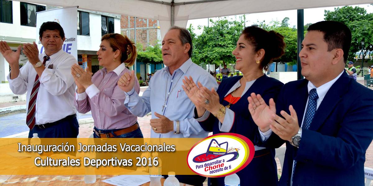 Inauguración Jornadas Vacacionales Culturales Deportivas 2016