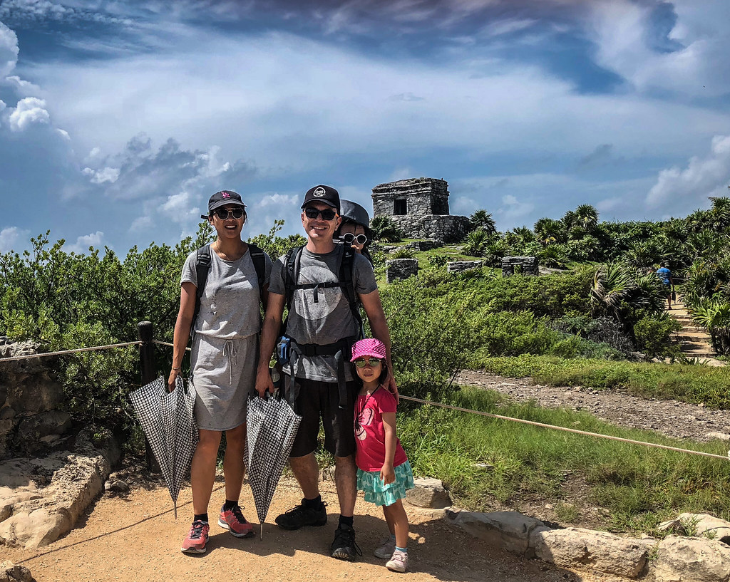 Visiting the ruins at Tulum was actually a nightmare on such a hot day