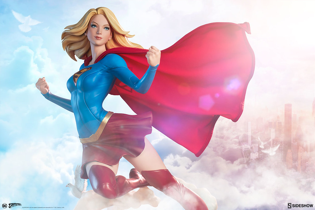 Supergirl Premium Format Figure from Sideshow Collectibles Takes to the Skies!