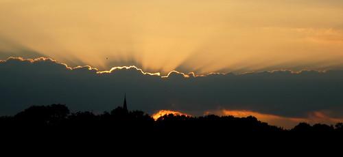 Hallow Church at sunset