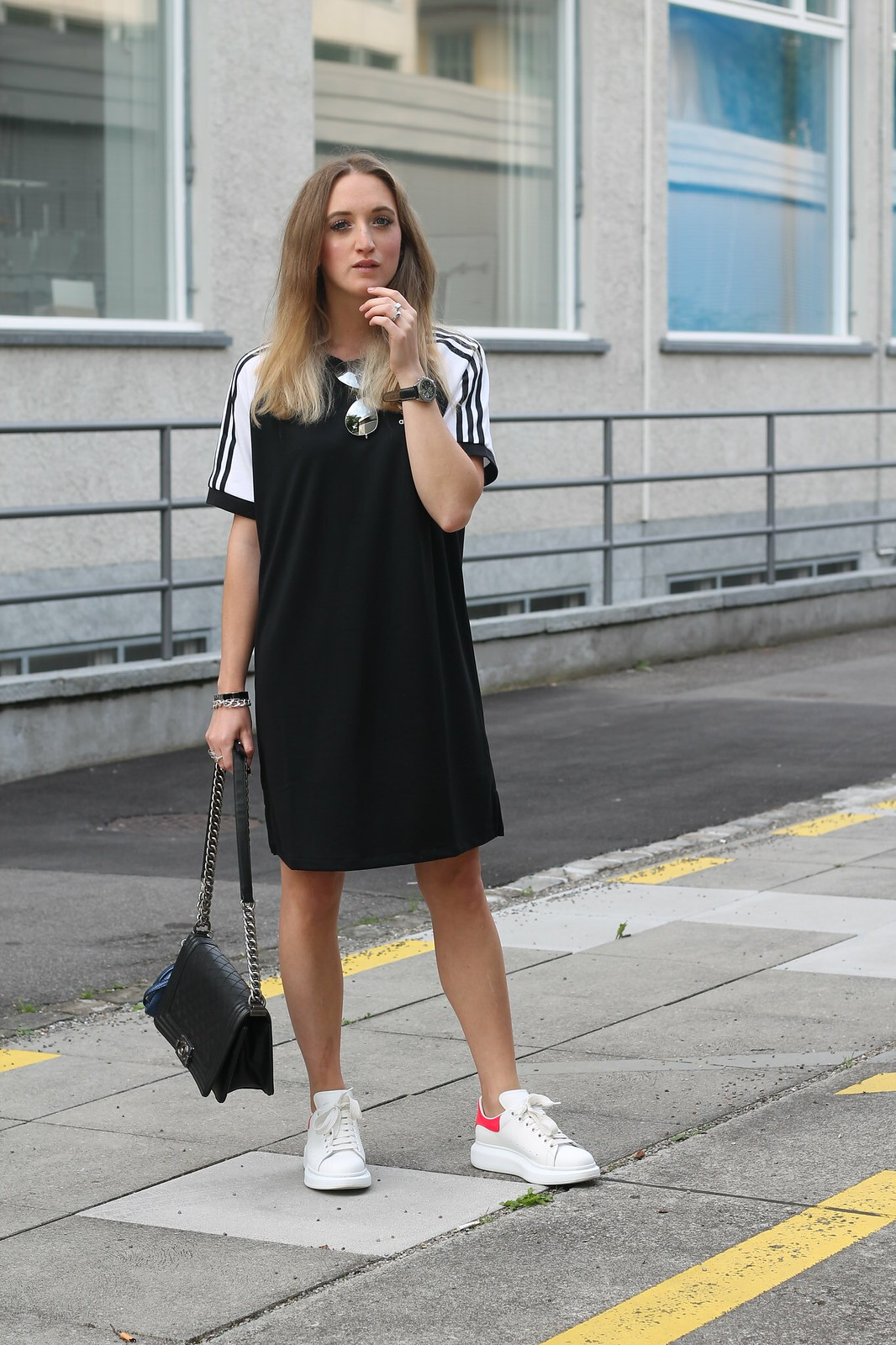 adidas-dress-and-alexander-mc-queen-sneaker-whole-outfit-front-wiebkembg