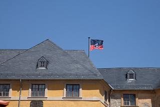 Fahne zurück auf dem Schloss