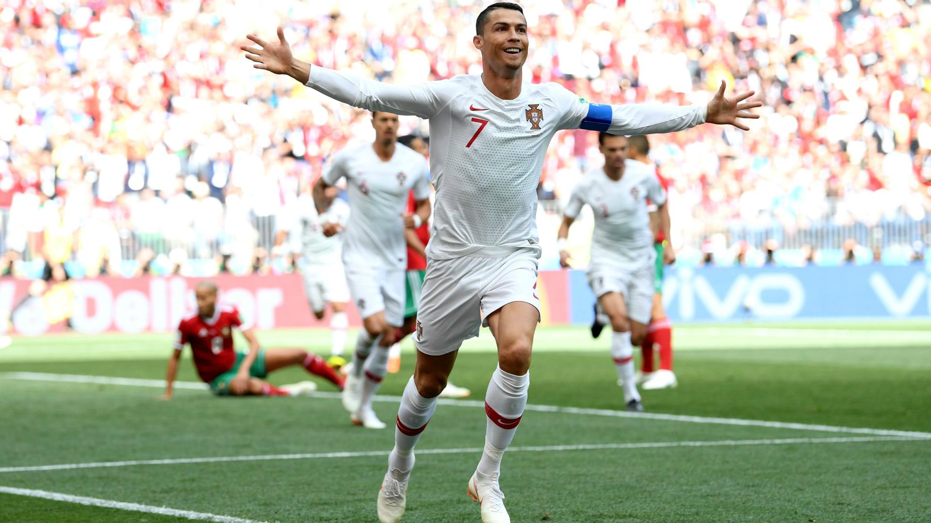 8cc58a2d0 Portugalští fotbalisté na MS díky Ronaldovi zdolali 1:0 Maroko ...