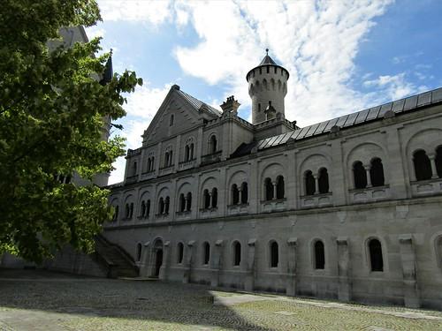 building in inner courtyard of Neuschwanstein Castle