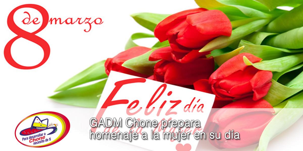 GADM Chone prepara homenaje a la mujer en su día