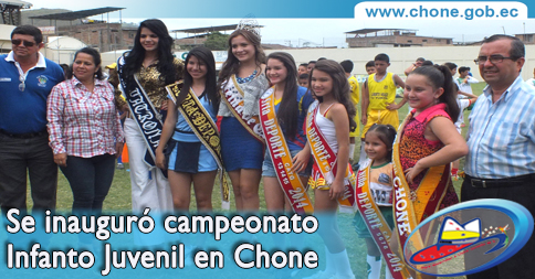 Se inauguró campeonato Infanto Juvenil en Chone
