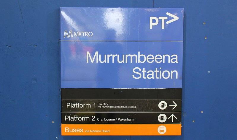 Spot the recycled sign, at Murrumbeena skyrail station