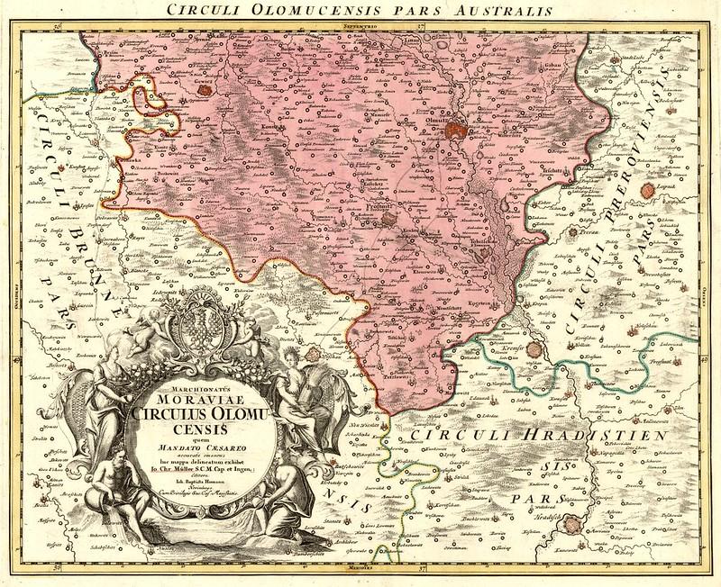 Johann Christoph Müller (1673-1721) - Marchionatûs Moraviae Circulus Olumucensis