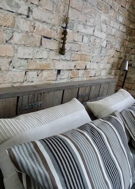 Hoofdbord bed steigerhout
