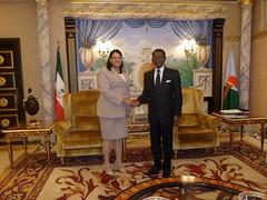 Encuentro con el presidente de Guinea Ecuatorial, Excmo. Sr. Teodoro Obiang Nguema Mbasogo
