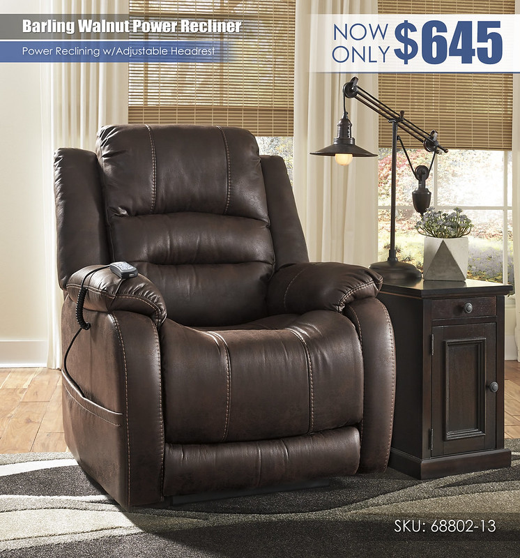 Barling Walnut Power Recliner_68802-13
