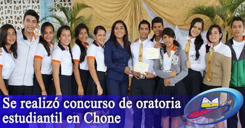 Se realizó concurso de oratoria estudiantil en Chone