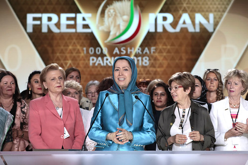 "Among women dignitaries and women's rights activists in the ""Free Iran – The Alternative"" gathering - Villepinte, June 30, 2018"