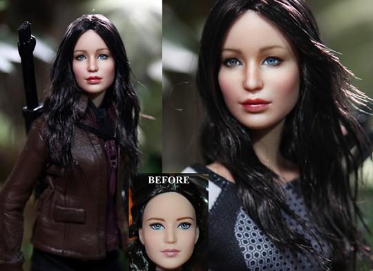 hunger_games_katniss_everdeen_doll_custom_repaint