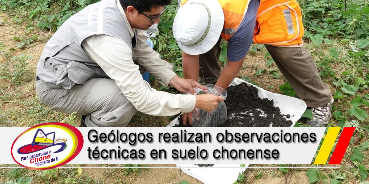 Geólogos realizan observaciones técnicas en suelo chonense