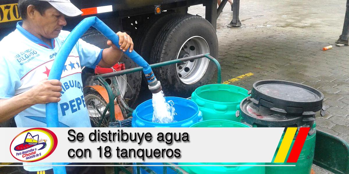 Se distribuye agua con 18 tanqueros