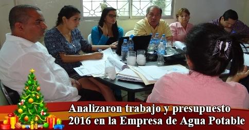 Analizaron trabajo y presupuesto 2016 en la Empresa de Agua Potable