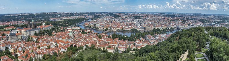200+ degrees from Petrin Hill Observation Tower