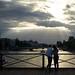 Les rayons du solei au pont des arts