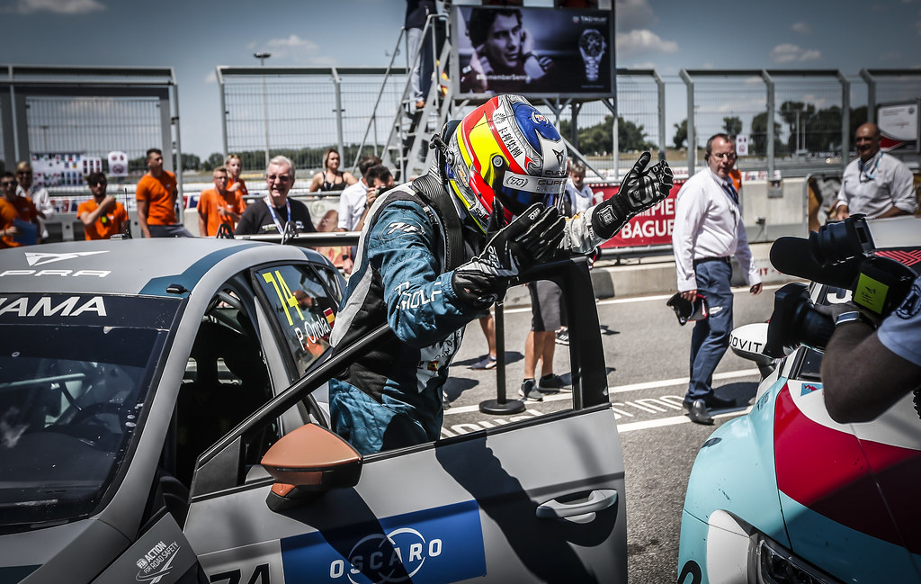 ORIOLA Pepe, (esp), Seat Cupra TCR team Oscaro by Campos Racing, portrait winner race 1 during the 2018 FIA WTCR World Touring Car cup race of Slovakia at Slovakia Ring, from july 13 to 15 - Photo Jean Michel Le Meur / DPPI