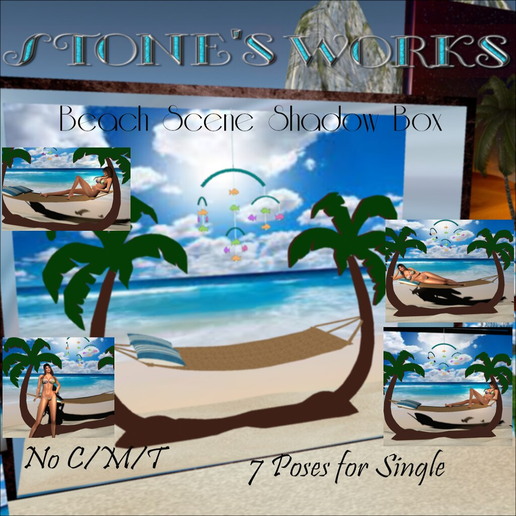 Life's a Beach Scene Single Stone's Works