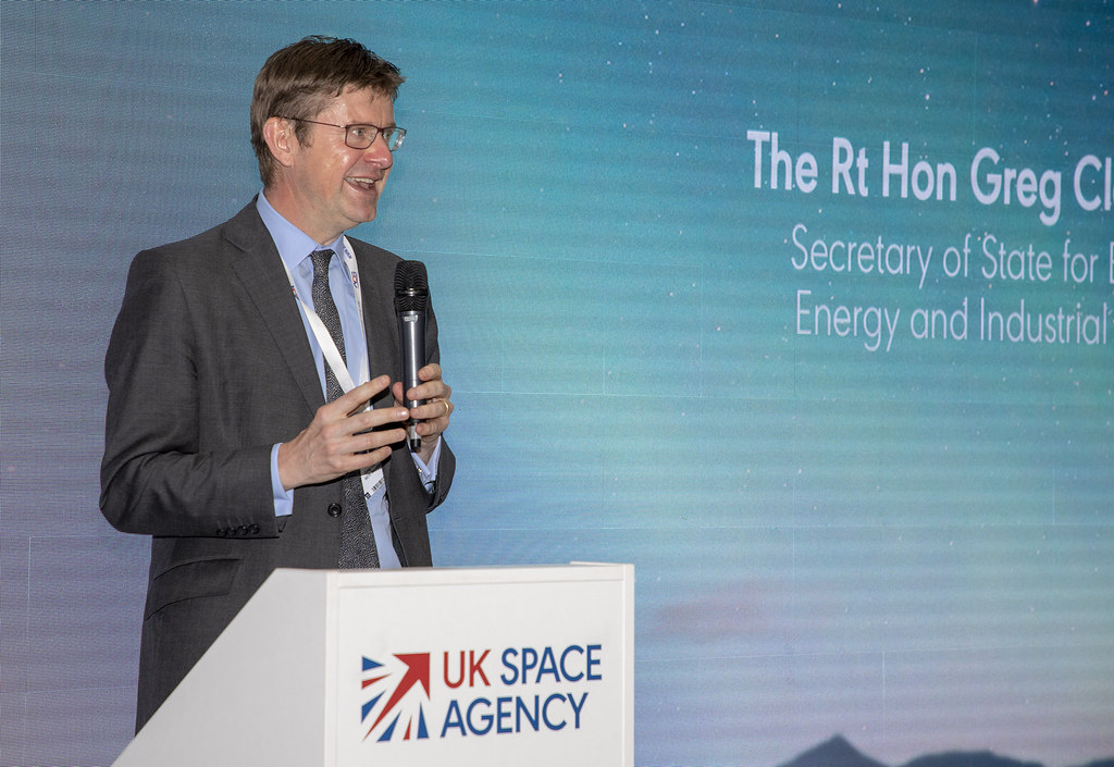 Greg Clark MP addresses Farnborough Airshow 2018